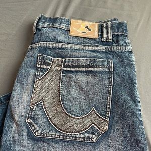 Jeans Station Shorts Size 30 Embroidered Pockets